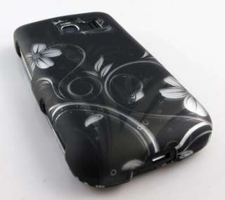 BLACK FLOWERS PHONE COVER HARD CASE LG OPTIMUS S U V