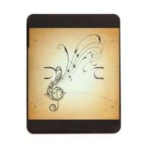 iPad 5 in 1 Case Matte Black Treble Clef Music Notes