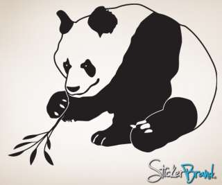 Vinyl Wall Art Decal Sticker Asian Panda #771