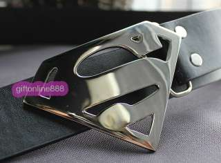 Superman logo fashion Metal Buckle leather Belt BSU19B