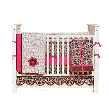 Bacati Damask Pink & Chocolate 10 Piece Crib Bedding Set   Bacati