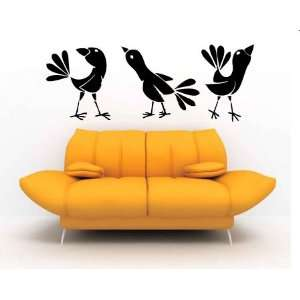 Funky Birds Vinyl Wall Decal Sticker Graphic