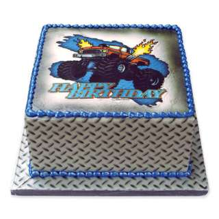 Monster Truck 4x4 Birthday Edible Image Cake Decoration Topper LUCKS