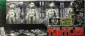 2008 EXCLUSIVE TEENAGE MUTANT NINJA TURTLES SET FIGURES NEW