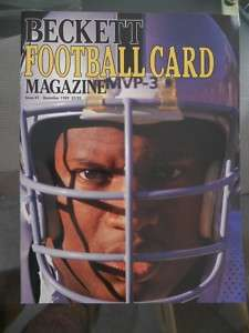 NFL football Beckett Price guide rare first issue |