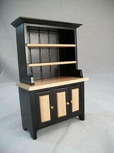 Oak Kitchen Hutch T5975 miniature dollhouse furniture wood 1/12 scale