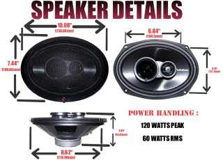Fosgate R1693 3 Way 6 X 9  Prime Full Range Car Speakers Prime R 1693