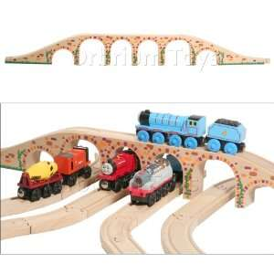 Wooden Railway Track Fits Thomas Trains Brio Chuggington set: Toys