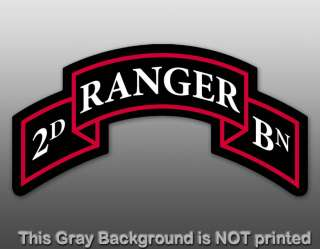 2nd Ranger Bn Insignia Sticker   decal army battalion