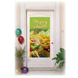 Tinkerbell Flowers Birthday Party Door Banner