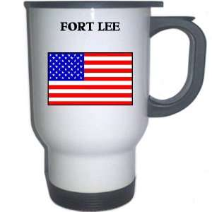 US Flag   Fort Lee, New Jersey (NJ) White Stainless Steel