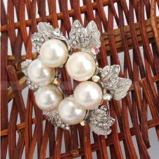 shaped Style Rhinestone Imitation Pearl alloy Brooch Pin
