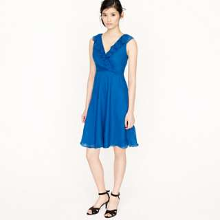 Petite Macie dress in silk chiffon   dresses   Womens petite   J.Crew