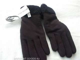 NEW 100% AUTHENTIC WOMENS NINE WEST BLACK GLOVES RETAILS $30..