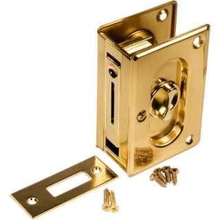 Prime Line Brass Pocket Door Lock And Pull 078874627791