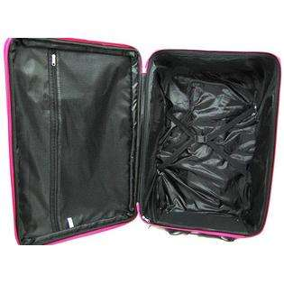 Piece Zebra Print Suitcase Set Luggage Hot Pink Trim  Ivy For the