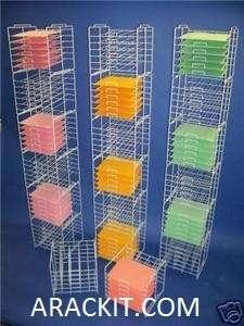 New White   6 Tier 12 x 12 Scrapbooking Paper Storage Display Racks