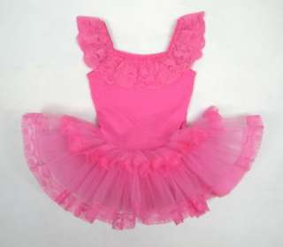 Birthday Party Leotard Ballet Tutu Dance Costume Skirt Dress SZ2 3Y