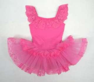 Birthday Party Leotard Ballet Tutu Dance Costume Skirt Dress SZ2 3Y