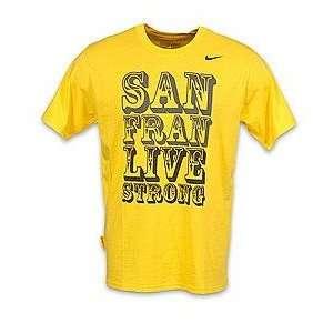 LIVESTRONG Nike Mens San Francisco T Shirt Yellow Sports