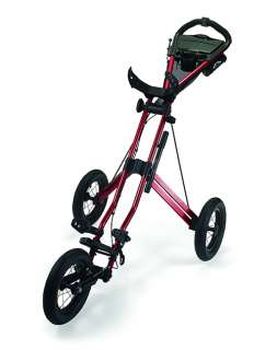 New Sun Mountain Speed Cart V1 Golf Push Cart (Metallic Red)