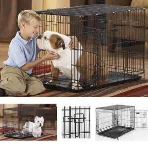 DuraCrate 36 Black Single Door Folding Dog Crate