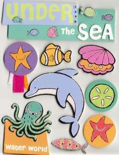 Soft Spoken Sea Creatures Ocean Animals 3D Stickers