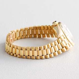 Ladies Rolex 18K Yellow Gold Datejust President Watch Blue Diamond