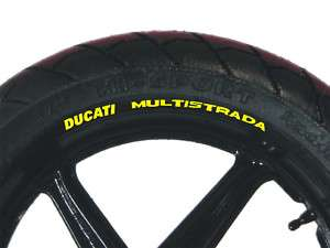 DUCATI MULTISTRADA 1100S Wheel Rim Stickers Decals Set