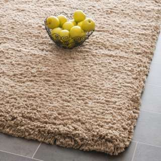 Hand woven Shag Solo Taupe Carpet Area Rug 10 x 14