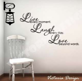 Live Laugh Love DECAL STICKER QUOTE LETTERING WALLPAPER