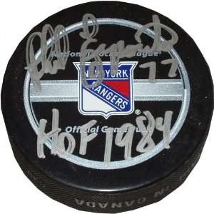 Phil Esposito New York Rangers Autographed Puck With HOF