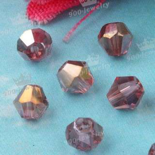 Bicone Lilac Faceted Crystal Glass Loose Beads 300PCS