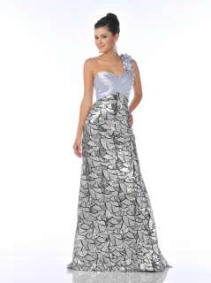 PROM FORMAL EVENING METALLIC SILVER ALL SEQUINS RED CARPET PAGEANT HOT