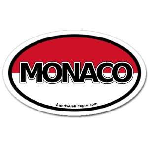 Monaco Flag Car Bumper Sticker Decal Oval