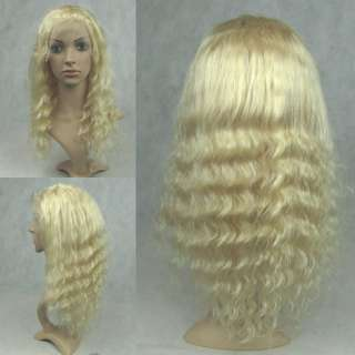 Indian REMI Full Lace wig / Front lace Wig Deep Wave #613 hot!