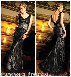 Graceful lace Prom Dress Bridal Wedding Gown Formal Evening Party