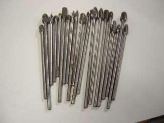 20 PCS SOLID CARBIDE EXTENDED SHANK BURS TO CUT STEEL