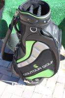 COUTOUR GOLF TRI FIT CUSTOM LEATHER STAFF GOLF BAG W/STRAP & COVER