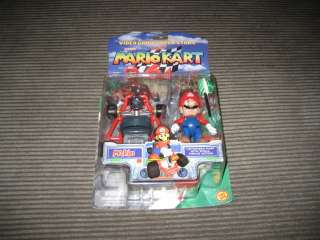 Super Mario Kart 64 Mario Action Figure New In Box NIB