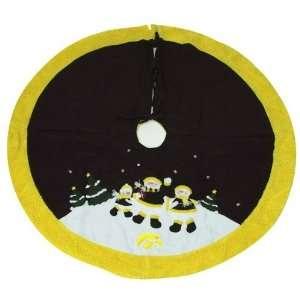 Iowa Hawkeyes Black Decorative Snowman Tree Skirt Sports