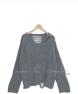 CELEBRITY T43 ANGORA WOOL RIBBED BOHO SWEATER top 123CZ