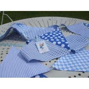 Powell Craft Handmade Blue Bunting   Perfect for Nursery / Babies Room