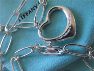 Tiffany & Co. Elsa Peretti Open Heart Link Sterling Silver Necklace