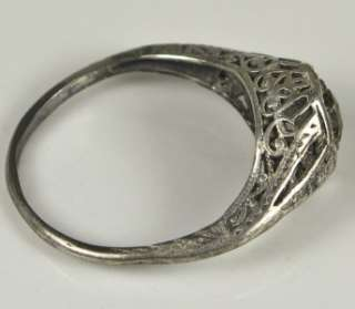 Sterling Silver .40ct Chocolate Rose Cut Genuine Diamond Filigree Ring