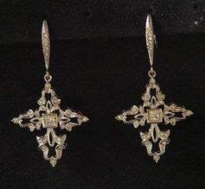 Authentic Nadri Cross Swarovski Crystal Earrings