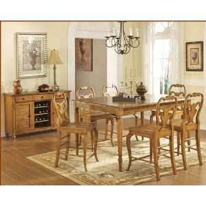 Counter Height Dining Set Driftwood WO DDT14867Rs: Furniture & Decor