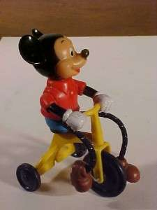 VINTAGE 1977 WALT DISNEY MICKEY MOUSE TRICYCLE TOY NR