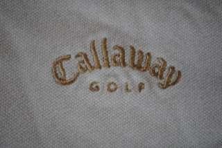 CALLAWAY GOLF SPONSORED TOUR VAN POLO SHIRT SMALL WHITE