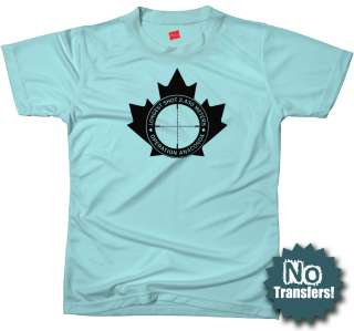 LONGEST SHOT Canadian Sniper army military New T shirt